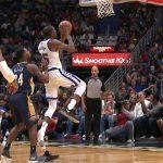 NBA – Top 10 de la nuit : En chaussette sur le parquet, Kevin Durant pose 2 contres à la suite !