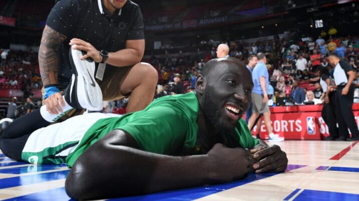 tacko fall travaille son pick and roll