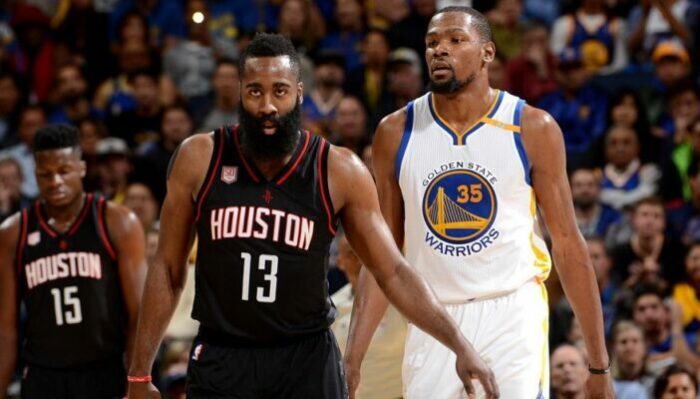 james harden défend kevin durant