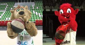 Insolite – Les mascottes de l'ASVEL et Bourg-en-Bresse lancent le derby avant l'heure !