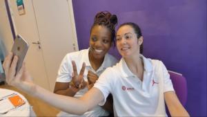 EDF Basket (F) – Vidéo : Le premier numéro de «Air Basket» avec Endy Miyemet Sarah Michel