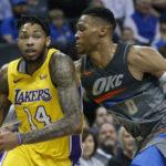 NBA – Les Lakers font tomber le Thunder, quatre défaites et des questions en tête pour OKC