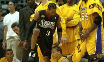 Allen Iverson Tyronn Lue Step Over 2001