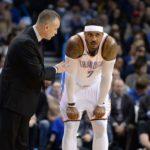 NBA – Billy Donovan explique pourquoi il a laissé Carmelo Anthony sur le banc lors du match 5