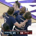 NCAA (F) – Notre Dame gagne la finale au terme d'un scénario ahurissant !
