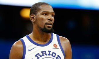 Kevin Durant sous le maillot des Warriors