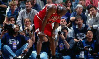 Michael Jordan lors du célèbre Flu Game