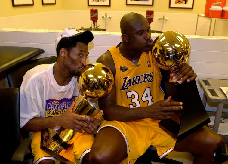 Kobe Bryant Shaquille O'Neal titre NBA 2003