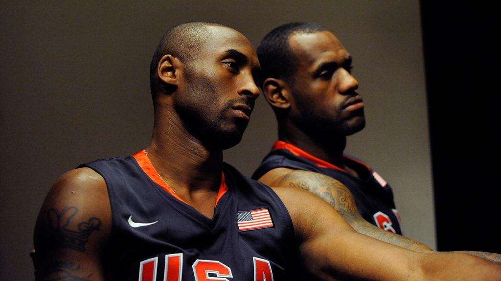 Kobe Bryant et Lebron James sous les couleurs de Team USA