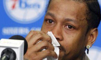 Allen Iverson en larme