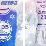NBA – Un artiste imagine les maillots de Noël de la saison prochaine