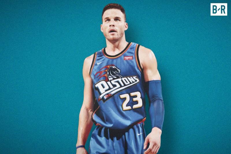 Blake Griffin sous le maillot rétro des Pistons