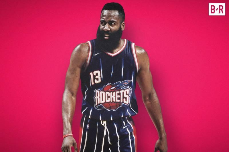 James Harden sous le maillot rétro des Rockets