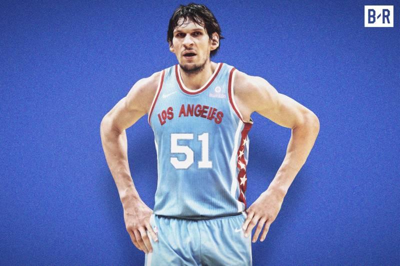 Boban Marjanovic sous le maillot rétro des Clippers