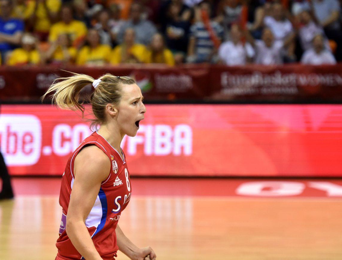 Nevena Jovanovic sous le maillot de la Serbie