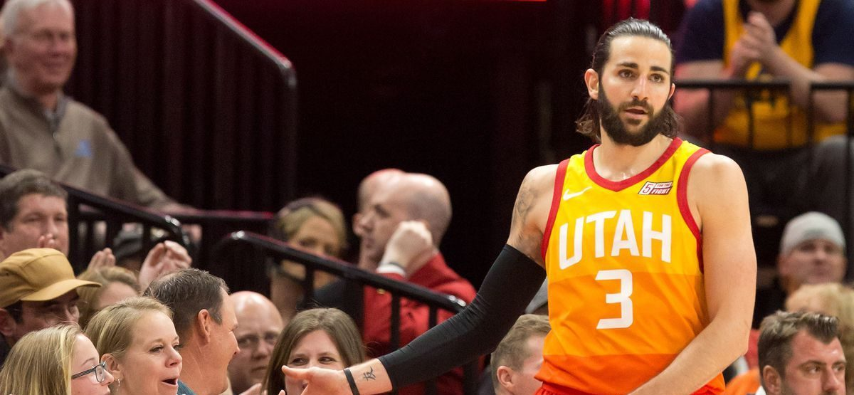 Ricky Robio sous le maillot du Jazz de l'Utah