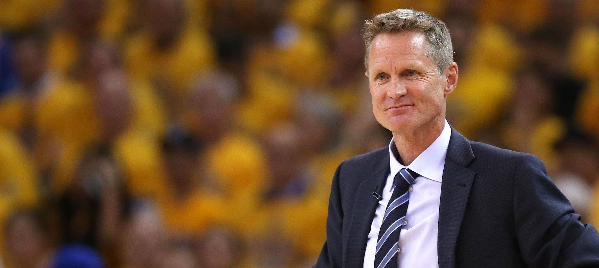 Steve Kerr pendant un match des Warriors.