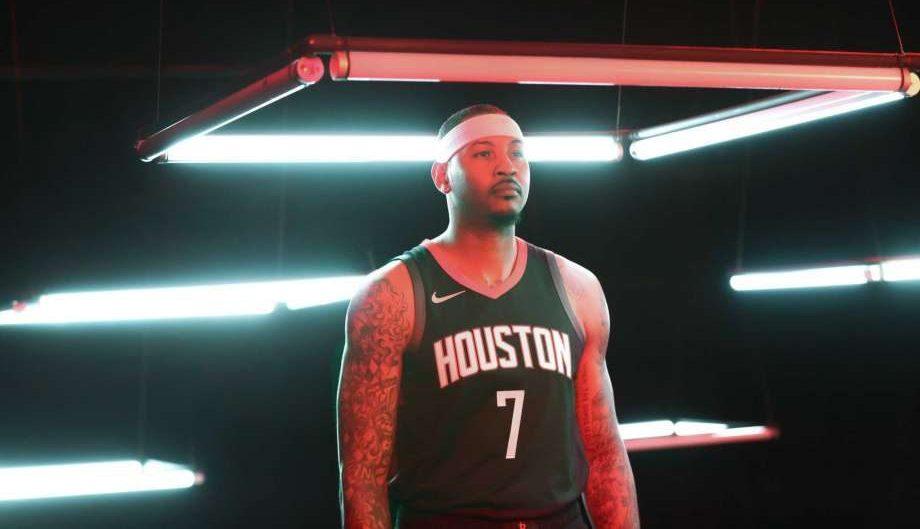 Carmelo Anthony sous le maillot des Rockets