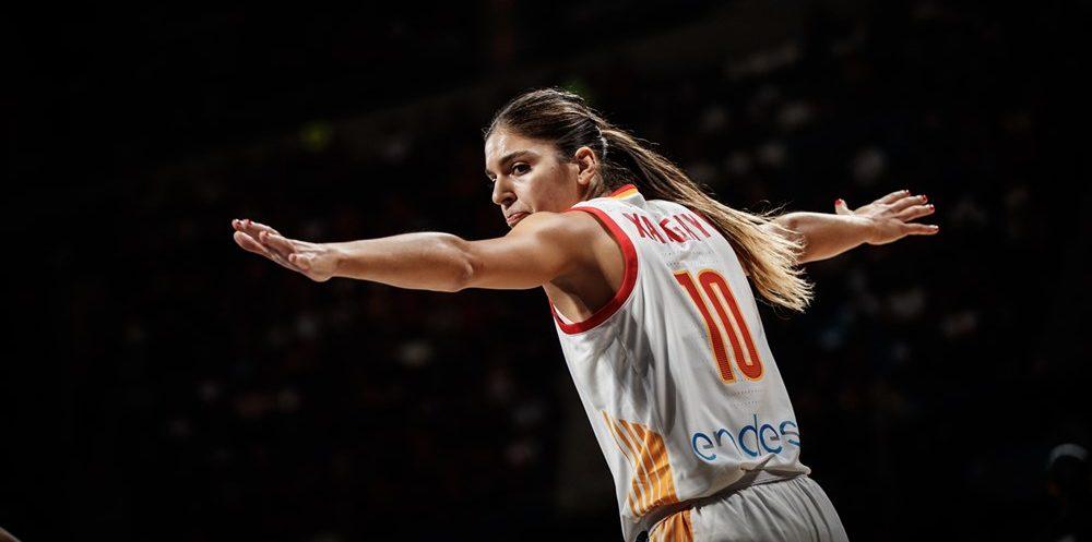 Marta Xargay sous le maillots de l'Espagne face au Sénégal