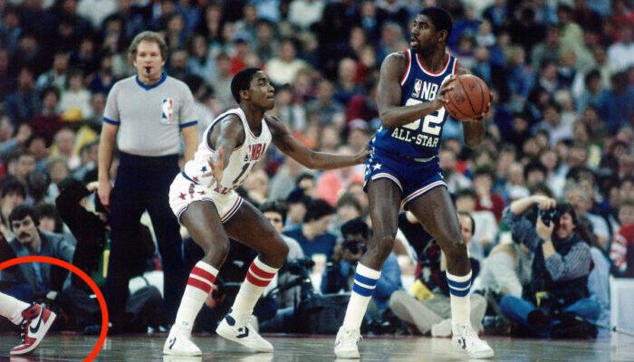 Magic Johnson and Isiah Thomas all star game 1985