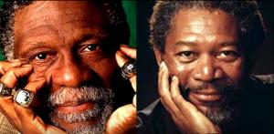 Bill Russell et Morgan Freeman