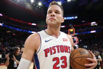 Blake Griffin sous le maillot des Pistons