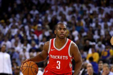 Chris Paul blessé à la cuisse sous le maillot des Houston Rockets en NBA