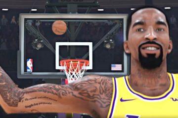 J.R. Smith sous le maillot des Lakers de Los Angeles dans NBA 2K19