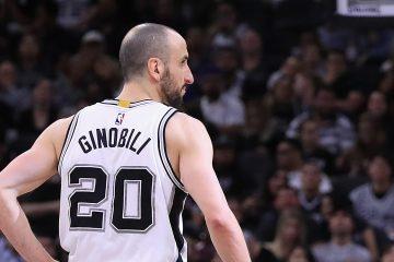 Manu Ginobili sous le maillot des Spurs de San Antonio
