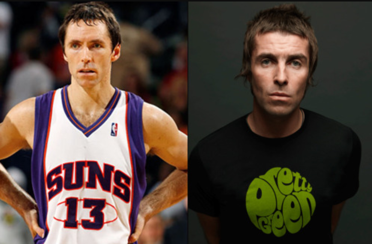 Steve Nash et le chanteur Liam Gallagher
