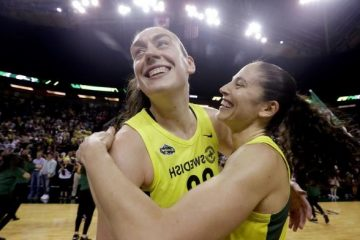 Sue Bird exulte après sa performance XXL