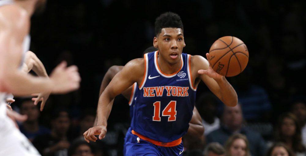 Allonzo Trier avec les Knicks durant la pré-saison