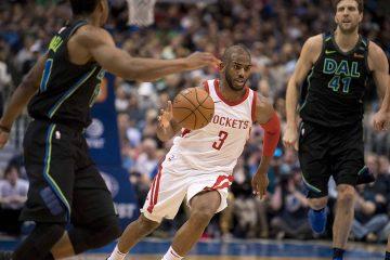 Chris Paul en contre-attaque avec les Rockets