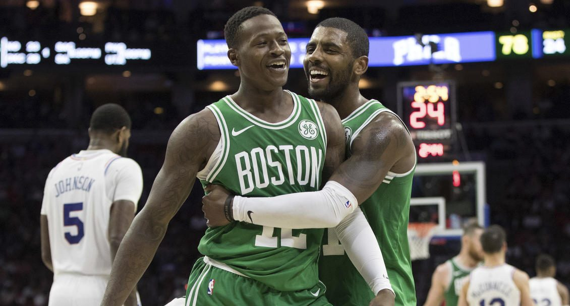 Kyrie irving félicite Terry Rozier