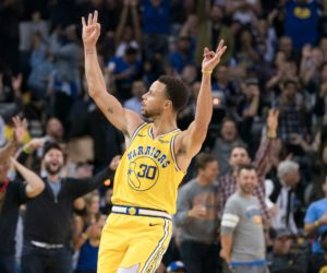 Steph Curry sous le maillot de Golden State