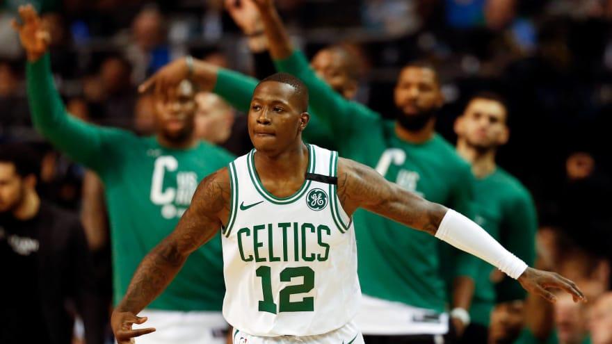 Terry Rozier sous le maillot des Celtics