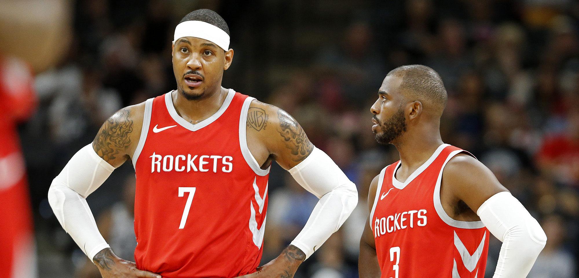 Carmelo Anthony et Chris Paul aux Houston Rockets