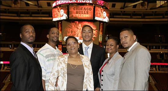 Derrick Rose et sa famille, trois frères