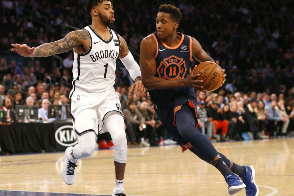 Frank Ntilikina meneur avec les Knicks en NBA
