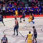 NBA – Le premier panier et la sublime première passe de LeBron James à L.A !