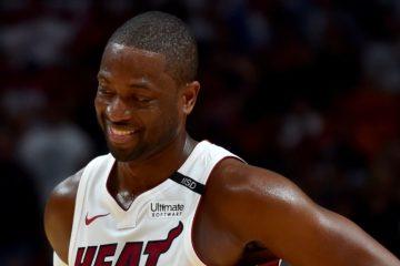 Dwayne Wade avec le maillot du Heat de Miami.