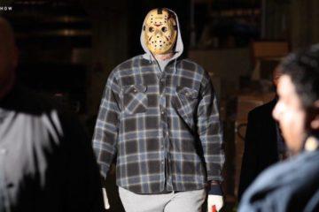 LeBron James arrive au Staples Center déguisé en Jason Voorhees de Vendredi 13.