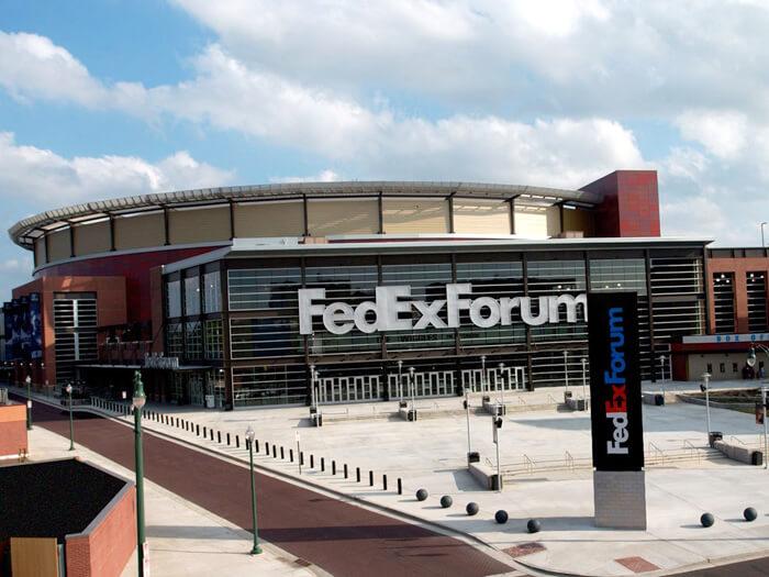 Le FedExForum, salle des Memphis Grizzlies en NBA