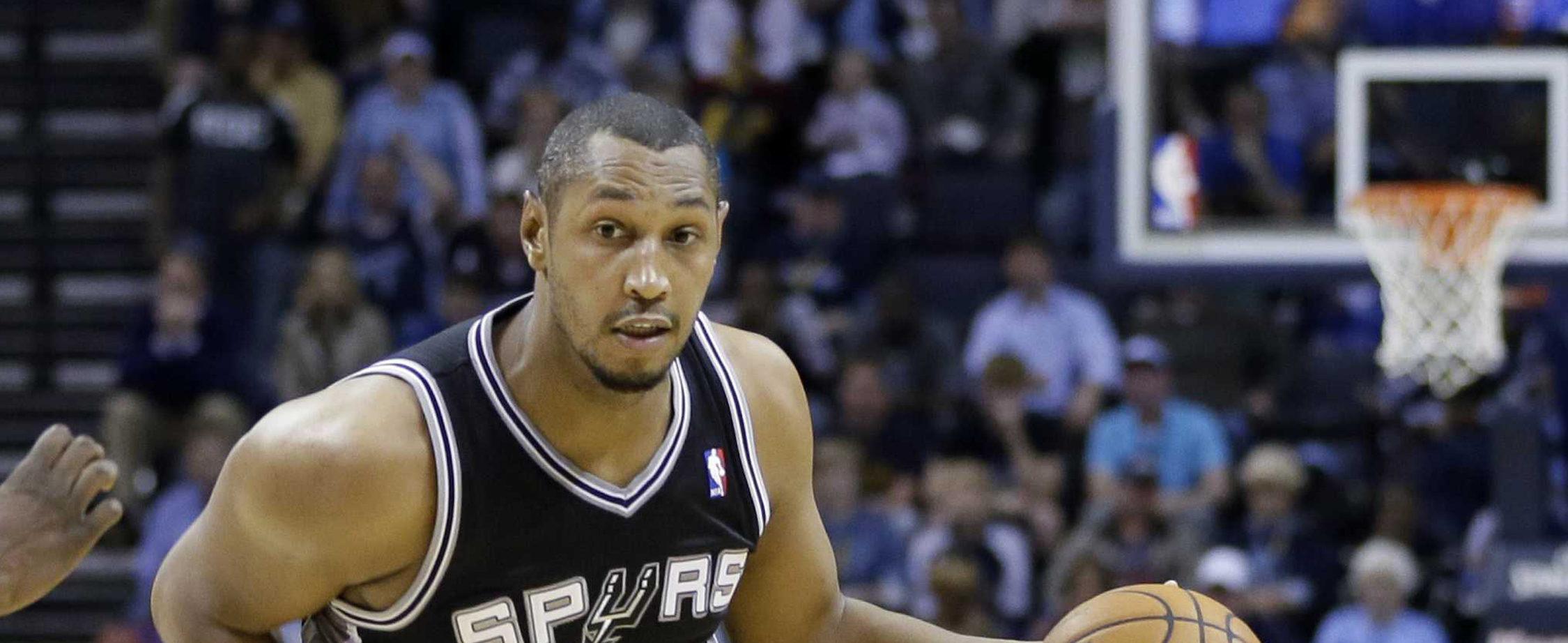 Boris Diaw sous le maillot des Spurs en NBA