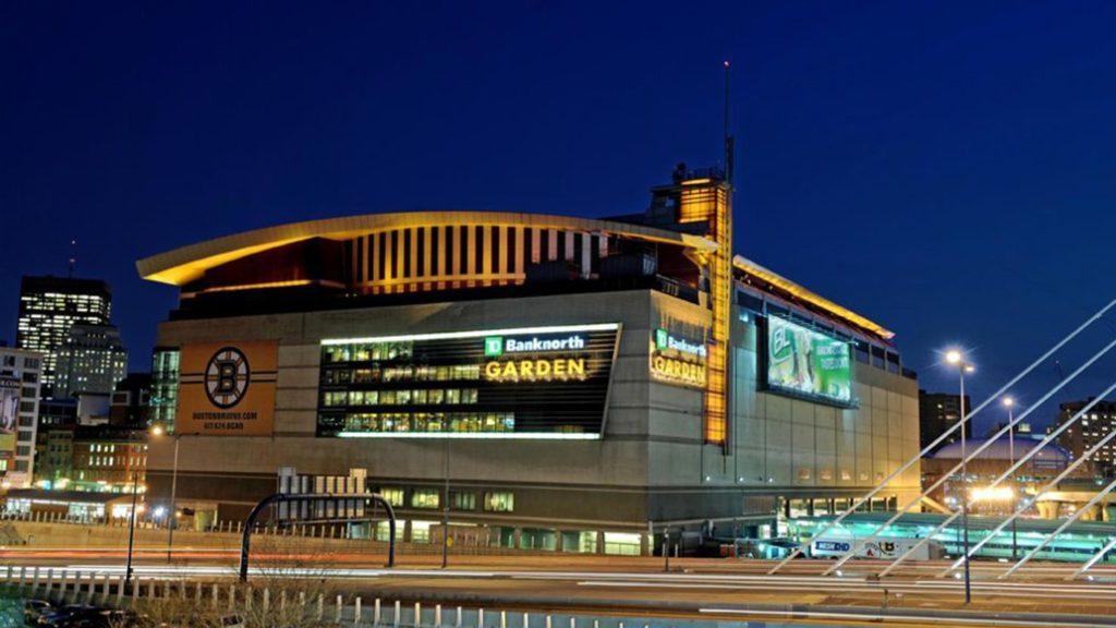 Le TD Garden, salle des Boston Celtics en NBA