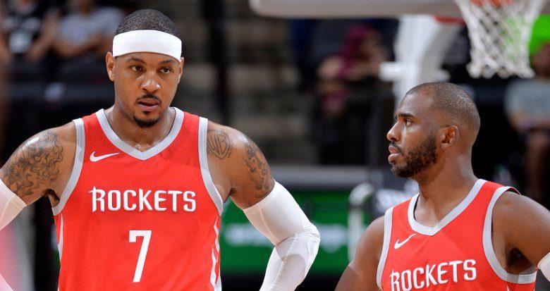 Carmelo Anthony et Chris Paul à Houston