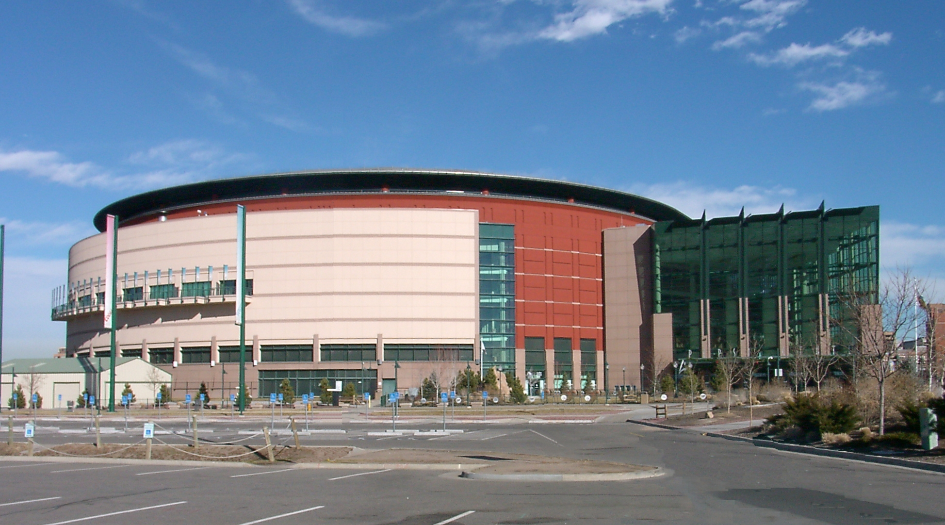 Le Pepsi Center, salle des Denver Nuggets en NBA