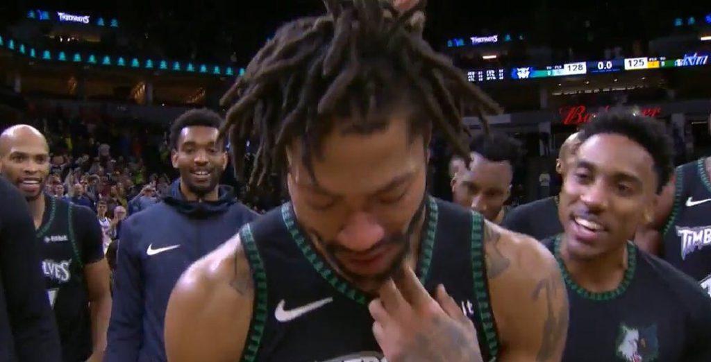 Derrick Rose pleure
