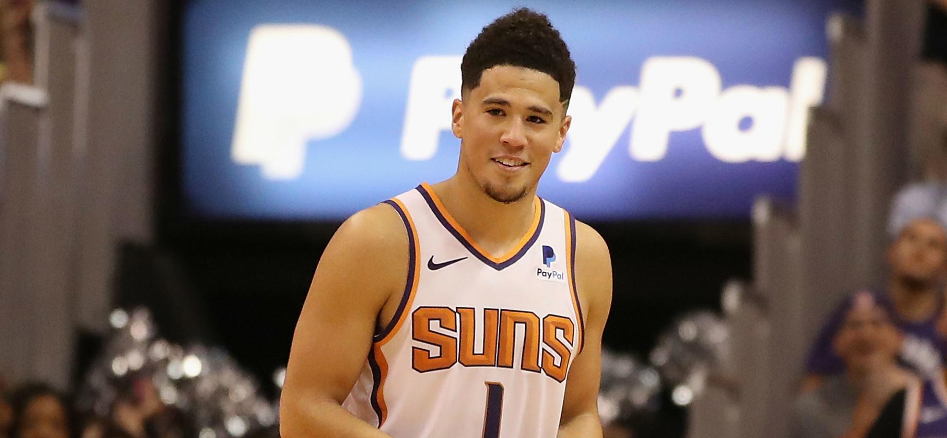 Devin Booker sous le maillot des Suns