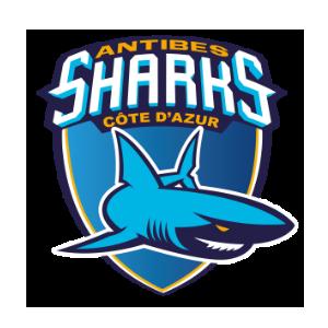 Logo des Sharks d'Antibes en Jeep Elite